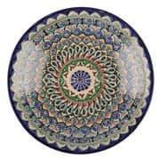 Ляган Риштанская Керамика 34 см. плоский, синий